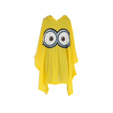 Yellow Rain Poncho (Size one size Kid's Despicable Me Minion Rain Poncho,)
