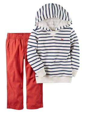 Carters Toddler Boy 2-Piece Firetruck Dog Shirt Jogger Pant Set 2pc Outfit 2T 5T