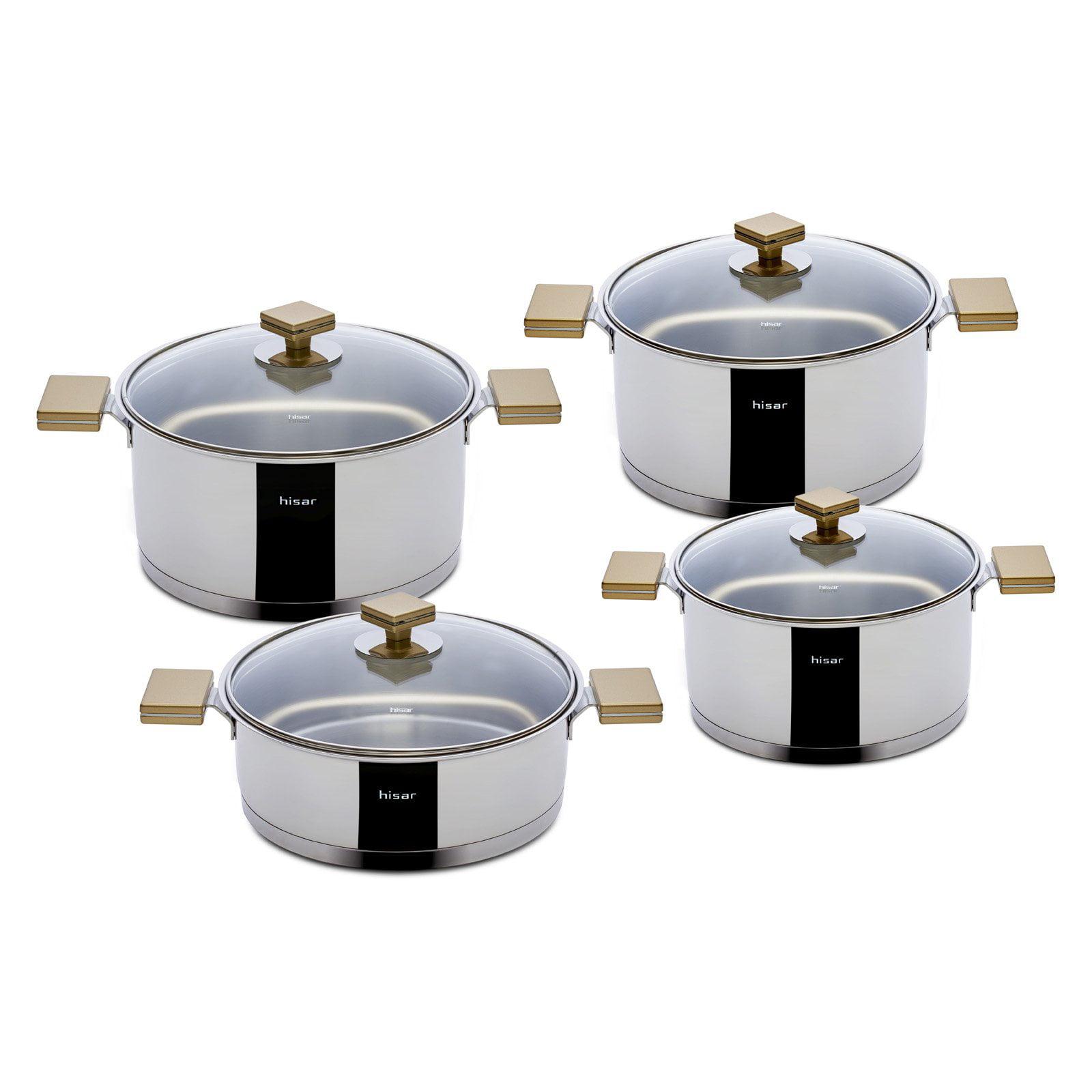 Hisar Milan 8 Piece Cookware Set