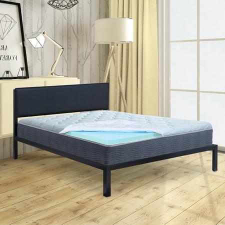 Granrest 3 Cool Gel Air Flow Memory Foam Mattress Pad Bed