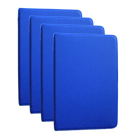 Mead  46000  Four Mini 6 Ring Blue Memo Books  Each Containing 3 X 5 Inch Lined Paper