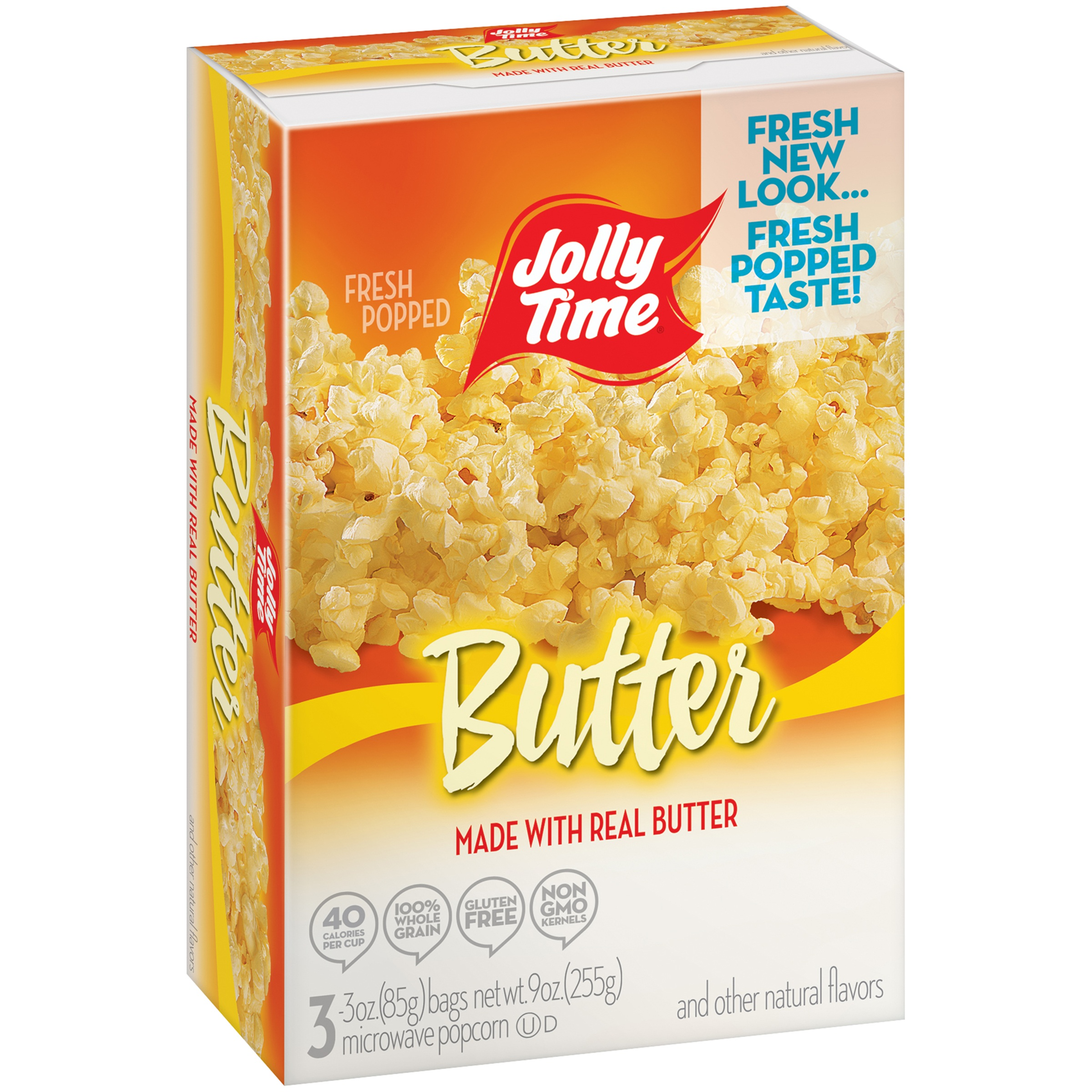 Jolly Time Butter Microwave Pop Corn, 3 Ct, 3 Oz