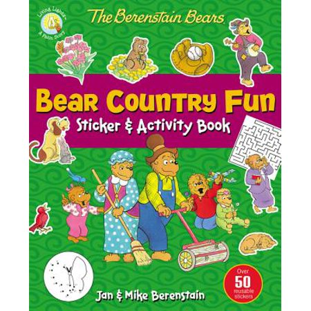 Berenstain Bears/Living Lights: The Berenstain Bears Bear Country Fun Sticker and Activity Book (Paperback)