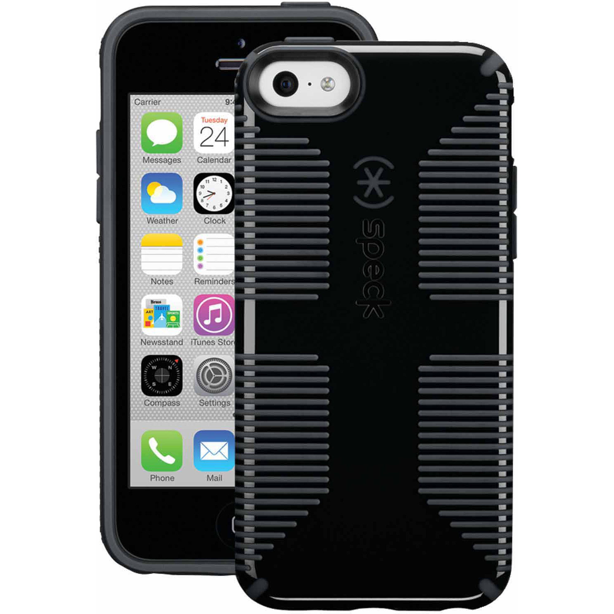 Speck CandyShell Case for iPhone 5c (Black/Gray)