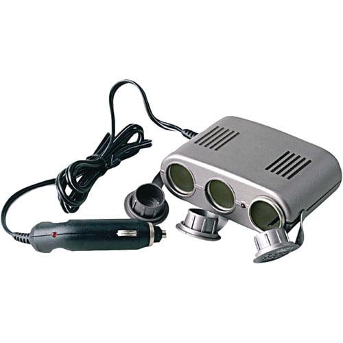 Pyle PL12VP3C Plug In Car 1-To-3 Cigarette Lighter Multiplier, Cup Holder Design