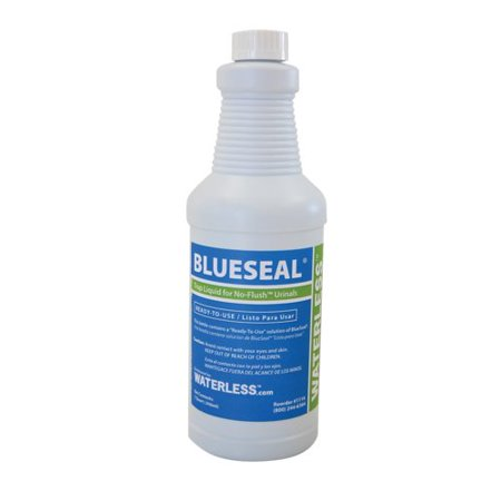Waterless BlueSeal Quart Urinal Trap Seal Liquid (Waterless Antimicrobial)