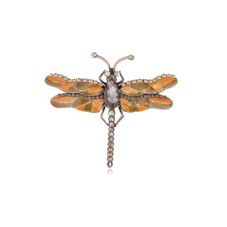 Rare Cat Eye Crystal Rhinestone Enamel Paint Dragonfly Fashion Jewel Pin (Rare Enamel Pin)