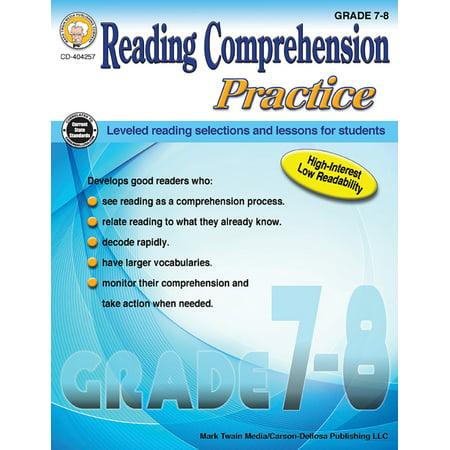 Reading Comprehension Practice, Grades 7 - 8 (Reading Halloween Comprehension)