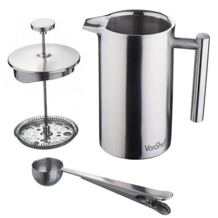 VonShef VonShef Stainless Steel French Press Cafetiere Coffee Maker ()