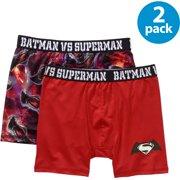 DC Comics Batman V Superman: Dawn Of Justice, Boys Underwear, 2 Pack Boxer Briefs (Little Boys & Big Boys)