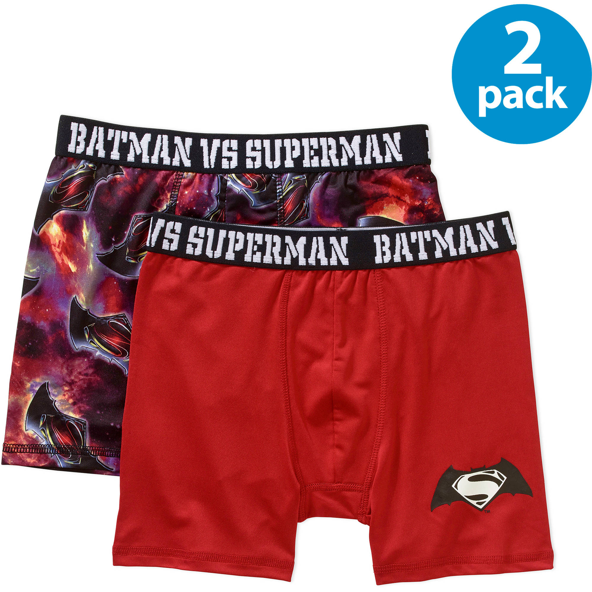 Dawn Of Justice Boys' Boxer Brief, 2-Pack