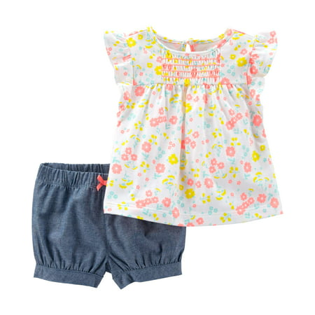 Child of Mine by Carter's Short sleeve t-shirt & shorts outfit, 2 pc set (toddler girls)