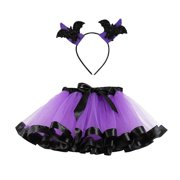 Outtop Kids Girls Tutu Halloween Party Dance Ballet Toddler Baby Costume Skirt+Hairband