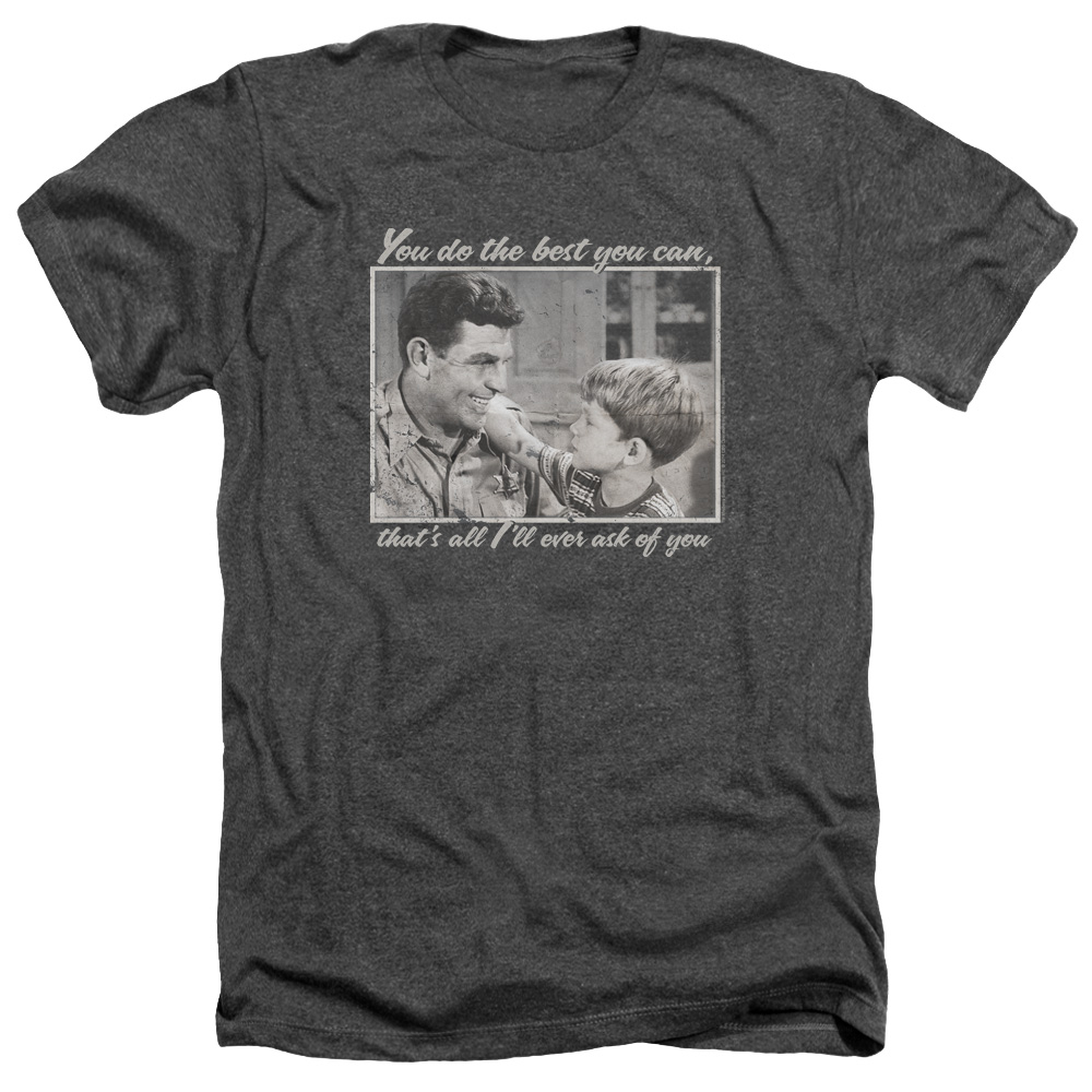 The Andy Griffith Show Wise Words Mens Heather Shirt