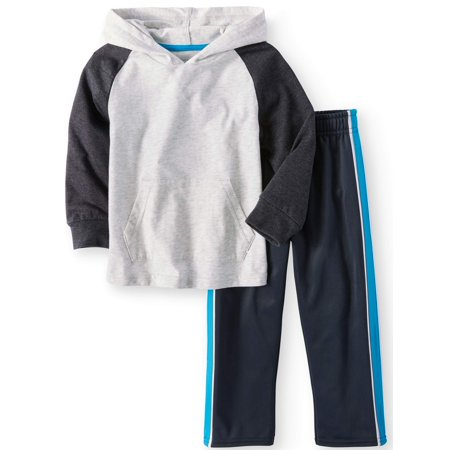 Long Sleeve Raglan Hoodie & Tricot Pants, 2pc Outfit Set (Toddler Boys) - Spy Outfits