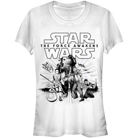 Star Wars  Mono Group Girls Jr White
