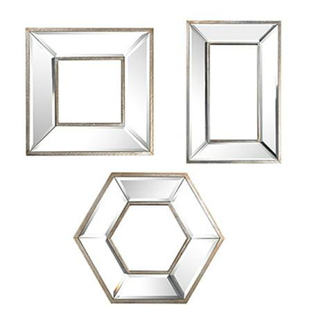 A&B Home Mirror Wall Art, Set of 3 ()