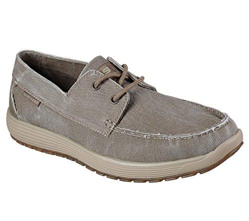 Skechers Venick Romeno Mens Boat Shoe Oxfords Khaki 11