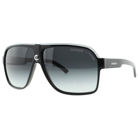 9bc80b7cd6a7 Carrera - Carrera 33/S 8V6 Z0 Black Crystal Grey Blue Mirror Unisex Aviator  Sunglasses - Walmart.com