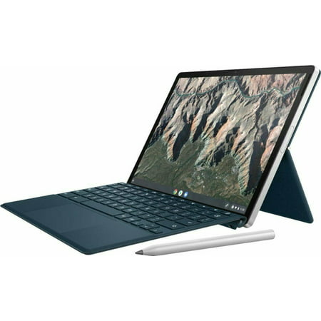 HP - 11u0022 Touch-Screen Chromebook - Qualcomm Snapdragon - 8GB Memory - 64GB eMMC - Natural Silver & Night Teal