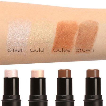 Face Powder Cream Shimmer Concealer Face Highlighter Highlight   Contour Stick Eclnk