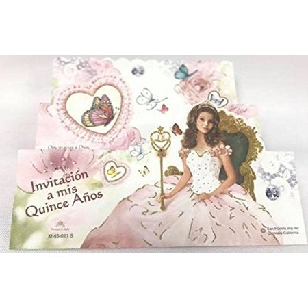 Mis Quince Anos Invitations Butterflies Sweet 15 Invitacion De Quinceanera 8 Ct for $<!---->