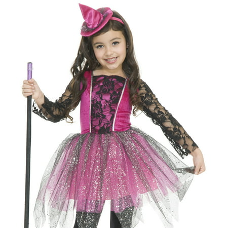 Charades Girls Glitter Pink Witch Kids Halloween Costume - Halloween Charades List