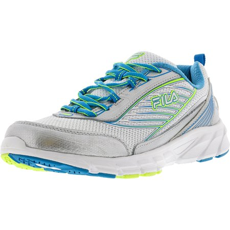 Fila Women's Forward 2 White Atomic Blue Safety Yellow Ankle High Running Shoe 7M