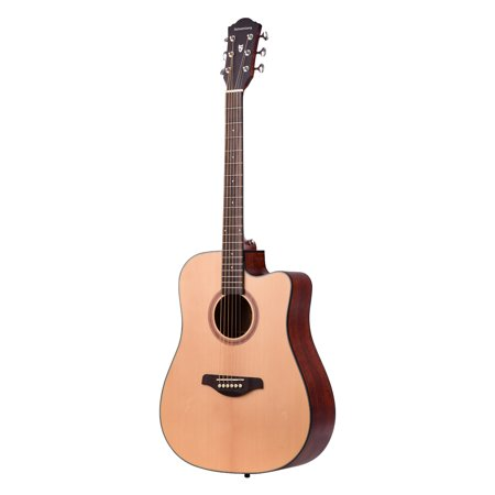 41inch Cutaway Acoustic Folk Guitar Spruce Wood Top Panel Mahogany Wood Backside Panel with Strap Bag Capo Picks Strings - image 2 of 7