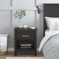 Better Homes and Gardens Wesley Nightstand with Wireless Smartphone Charger