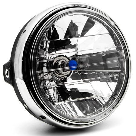 Krator 7.75'' Chrome Headlight H4 Bulb Round Lamp for Victory V92C V92SC V92TC Deluxe Classic - image 6 de 6