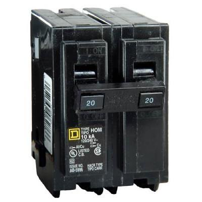 Square D Homeline Full Size Two - Pole Circuit Breaker,