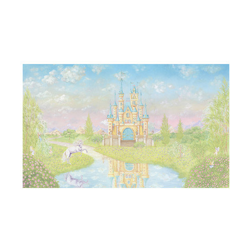 York Wallcoverings York Kids IV Princess Chair Rail Wall Mural