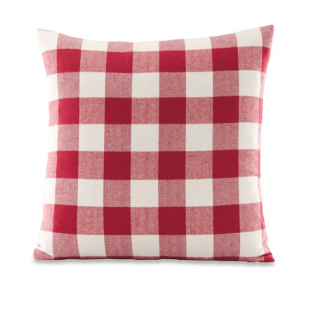 Red Ring Pillow (Better Homes & Gardens Feather Filled Buffalo Check Decorative Throw Pillow, 18