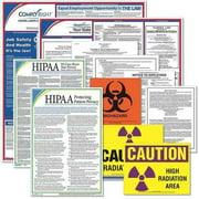 COMPLYRIGHT EHNJU Labor Law Poster,Healthcare Labor Law,NJ