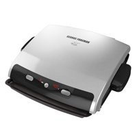 George Foreman 6-Serving Removable Plate Electric Indoor Grill and Panini Press, Silver, GRP99