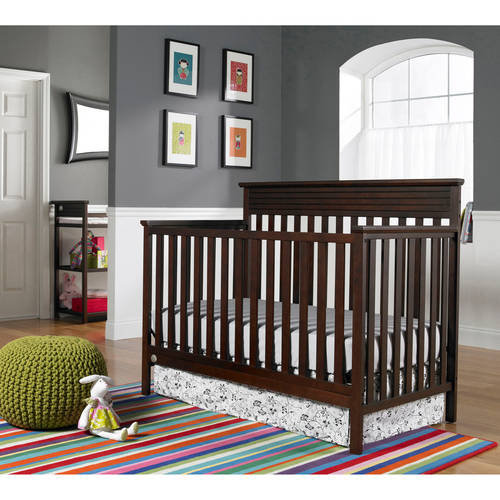 Fisher-Price Newbury 4-in-1 Fixed-Side Convertible Crib, (Choose Your Finish)