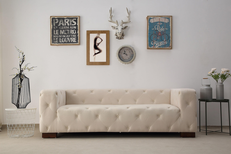 US Pride Furniture Malibu Tufted Chesterfield Sofa, Dark Blue by US Pride Furniture