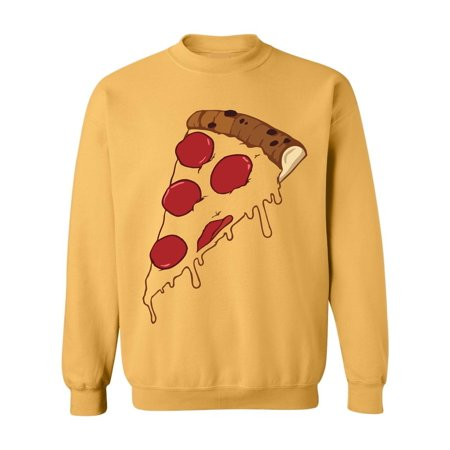 Allntrends Adult Sweatshirt Pizza Costume Love Food Cool Halloween Idea (Perfect Halloween Food Ideas)