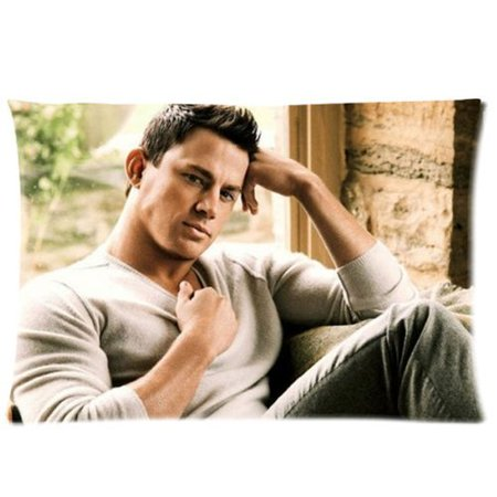 Deyou Sexy Channing Tatum Sexiest Man Queen Pillowcase Pillow Case Cover Two Sides Printing Size 20X30 Inch