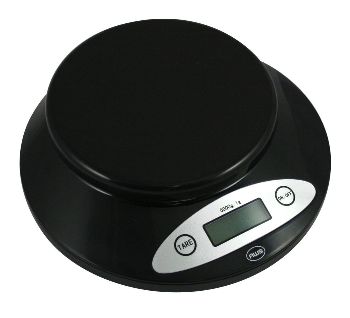 American Weigh Scales 5KBOWL-BK Digital Kitchen Scale Black