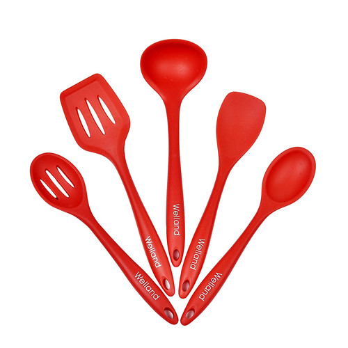 Welland LLC 5 Piece Premium Silicone Kitchen Utensil Set