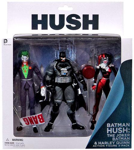 Hush Joker, Stealth Batman & Harley Quinn Action Figure 3-Pack by Diamond Comic Dist.
