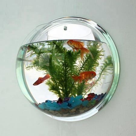 Aqua Fish Vases (Creative Wall Hanging Acrylic Fish Bowl Home Decoration Aquariums Flowerpot Decor Flower)