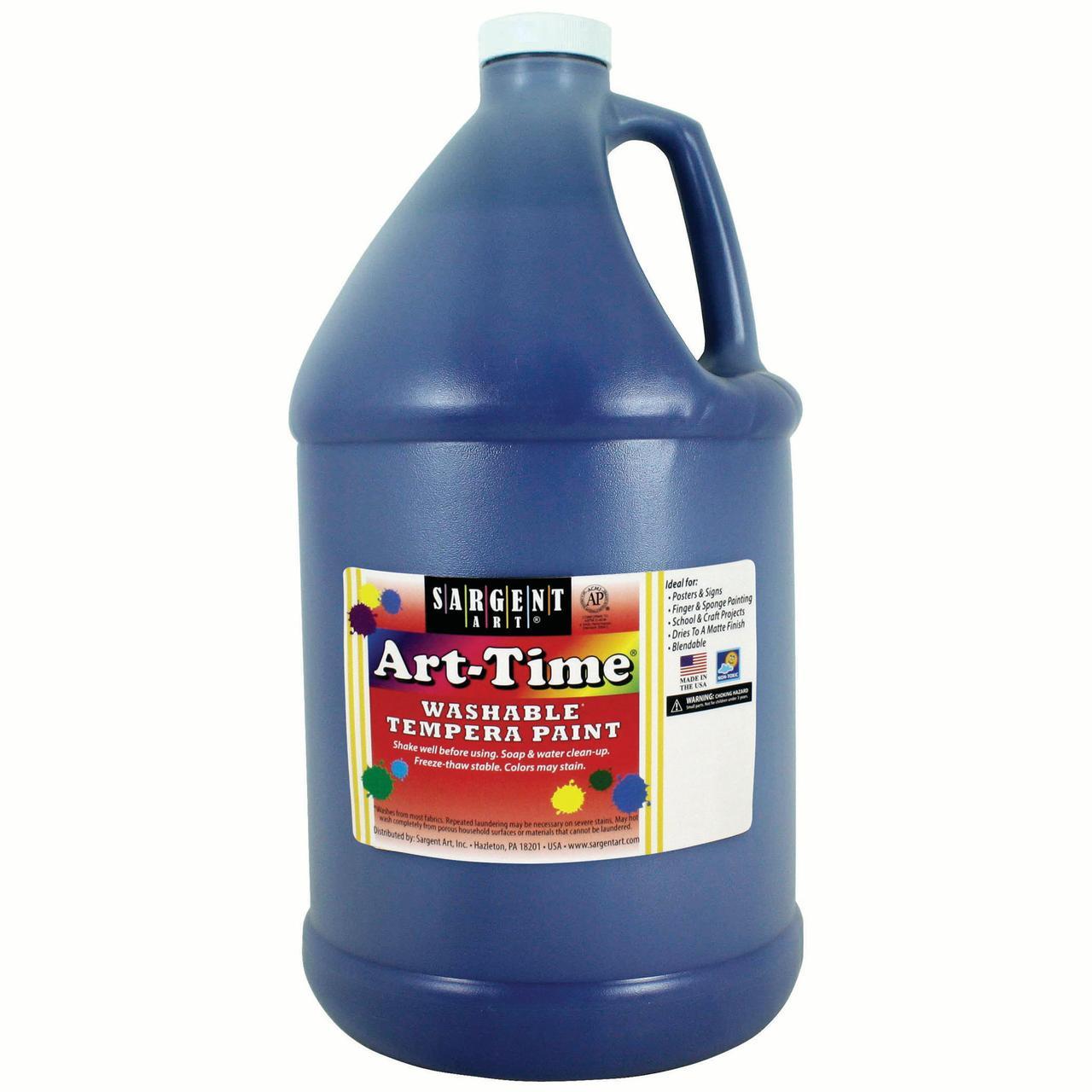 Art-Time® Washable Tempera Paint, Blue - Gallon