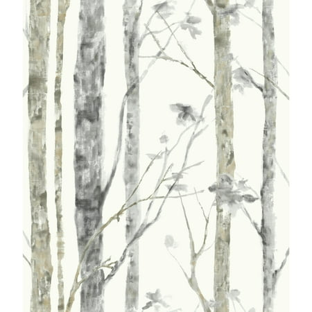Roommates Birch Trees Peel And Stick Wall Decor Wallpaper