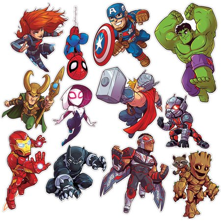 MARVEL SUPER HERO ADVENTURE 2SIDED DECOR KITS (Superhero Arts And Crafts)