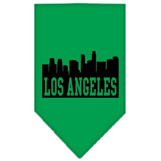 Image of Mirage 66-80 LGEG Los Angeles Skyline Pet Bandana Emerald Green Large