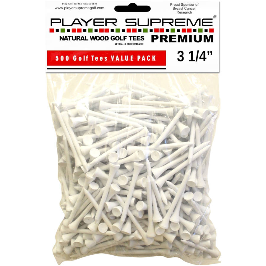 "Player Supreme 3-1/4"" Golf Tees, 500pk, White"