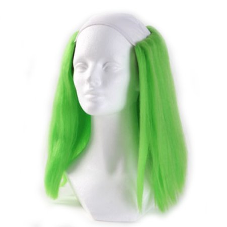 Clown Antics Green Bald Clown Straight Wig